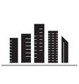 skyscrapers black concept icon skyscrapers vector image vector image