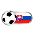 slovakia soccer icon vector image vector image