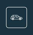 station wagon outline symbol premium quality vector image vector image