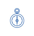 stopwatch line icon concept stopwatch flat vector image vector image