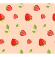 Strawberries and green leaves background vector image