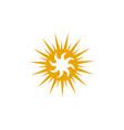 sun logo design template vector image vector image
