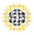 sunflower halftone icon vector image