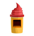 sweet candy kiosk icon cartoon style vector image