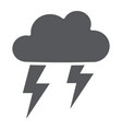 thunderstorm glyph icon weather and forecast vector image vector image