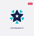 two color star ornament triangles icon from vector image vector image