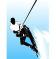 wake boarding vector image