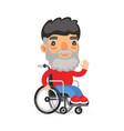 wheelchair user man vector image