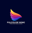 wing colorful design template vector image
