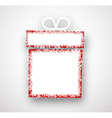 Christmas paper gift vector image
