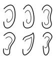 ears icon set vector image