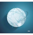 Abstract globe symbol with smooth shadows and map vector image