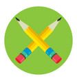 two pencil icon flat logo vector image