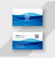 abstract blue business card design vector image vector image