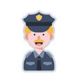 avatar policeman flat vector image vector image