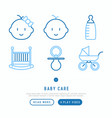 bacare concept with thin line icons vector image vector image