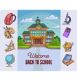 Back to school Building and supplies vector image vector image