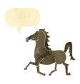 cartoon unicorn with speech bubble vector image vector image