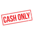 Cash Only rubber stamp vector image vector image