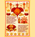 chinese new year ornaments greeting card vector image vector image