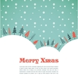 Christmas background with homes and birds vector image vector image