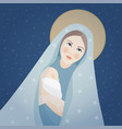 christmas greeting card invitation saint mary vector image vector image