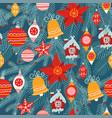 christmas seamless pattern traditional xmas vector image vector image