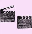 clapper board cinema vector image vector image