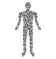 coin person figure vector image