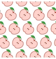 Colorful seamless pattern with apples on the white vector image vector image