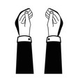 contour businessman hands with fingers and palm vector image vector image