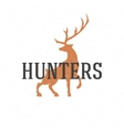 Deer hand drawn logo emblem template vector image