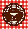 delicious barbecue vector image vector image