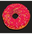 Delicious donut with colorful icing vector image vector image