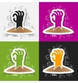 Drawing business formulas hand vector image