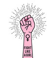 female hand with female sign vector image vector image