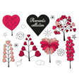 floral collection of hand drawn romantic herbs vector image vector image