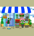 florist working with bunch of different flowers vector image vector image