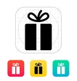 Gift icons on white background vector image vector image
