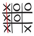 Hand drawn XO scribble icon symbol vector image