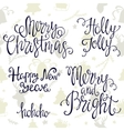 Handdrawn lettering merry Christmas and happy new vector image vector image