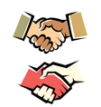 handshake symbol set vector image