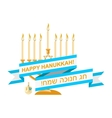 Happy Hanukkah Sale Emblem Design vector image vector image