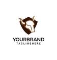 head bull shield logo design concept template vector image vector image