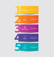 infographic template with options or steps for vector image vector image