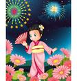 Japanese girl vector image