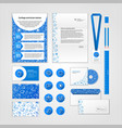 Medical corporate identity design with modern flat vector image vector image