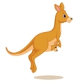 Mother and baby kangaroo cartoon vector image vector image