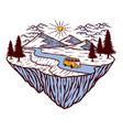 mountain view vector image