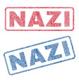 nazi textile stamps vector image vector image